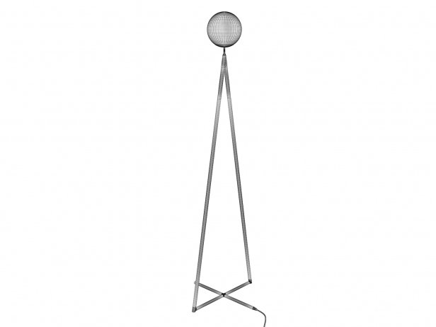 One Globe-One Cone Floor Lamp 6