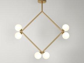 Rhombus 2 Globe Pendant Lamp