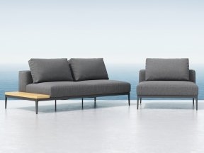 Outdoor Single & Double Seating Element