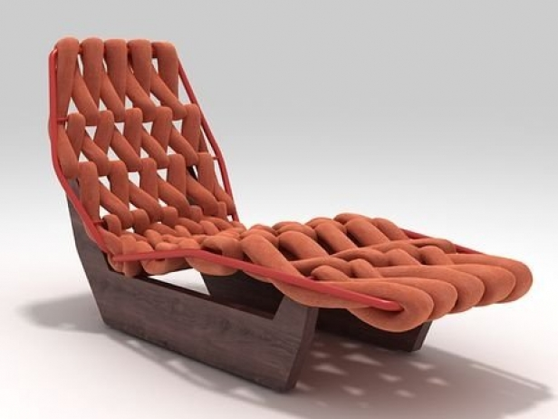 Biknit chaise longue 3d model moroso for Chaise longue frame