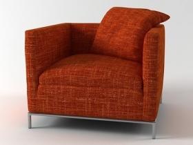 george armchair 3d model b b italia. Black Bedroom Furniture Sets. Home Design Ideas