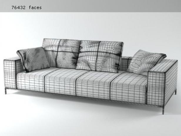 george sofa g263 3d model b b italia. Black Bedroom Furniture Sets. Home Design Ideas