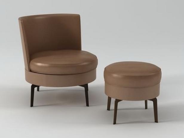 feel good armchair and ottoman 3d model flexform. Black Bedroom Furniture Sets. Home Design Ideas