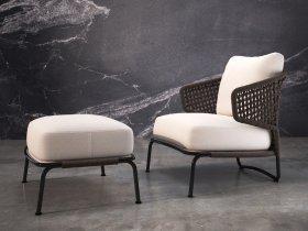 Aston Cord Armchair + Ottoman