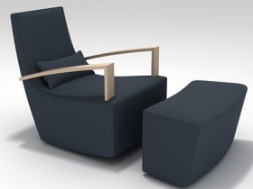 Neo Armchair and Footstool