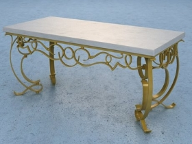 Gilt Iron Cocktail Table