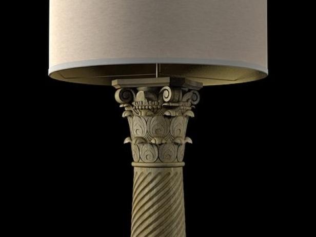 Corinthian column floor lamp 3d model restoration hardware corinthian column floor lamp 11 aloadofball Images
