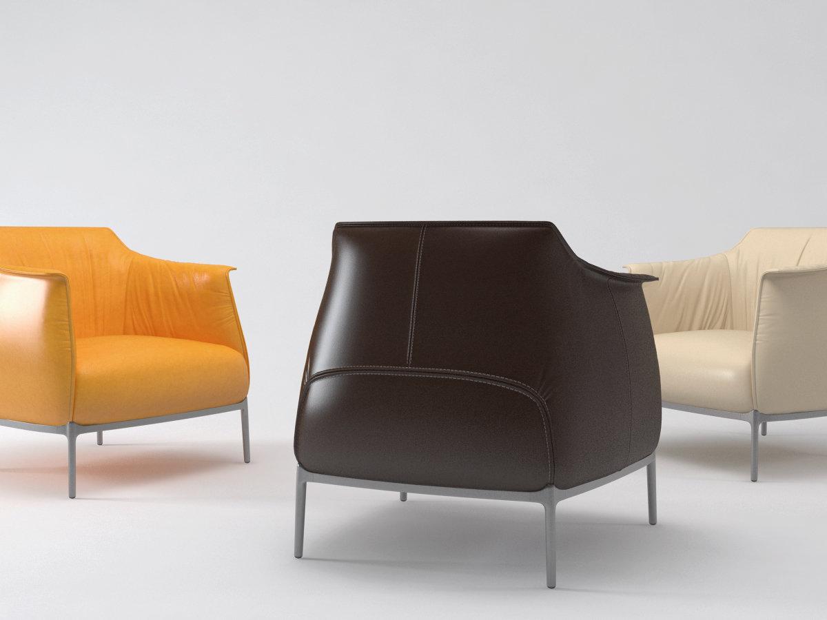 archibald armchair 3d model poltrona frau. Black Bedroom Furniture Sets. Home Design Ideas