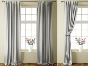 Jacquard Grey Curtains