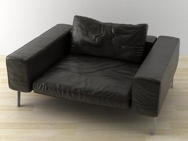lifesteel armchair 145 3d model flexform. Black Bedroom Furniture Sets. Home Design Ideas
