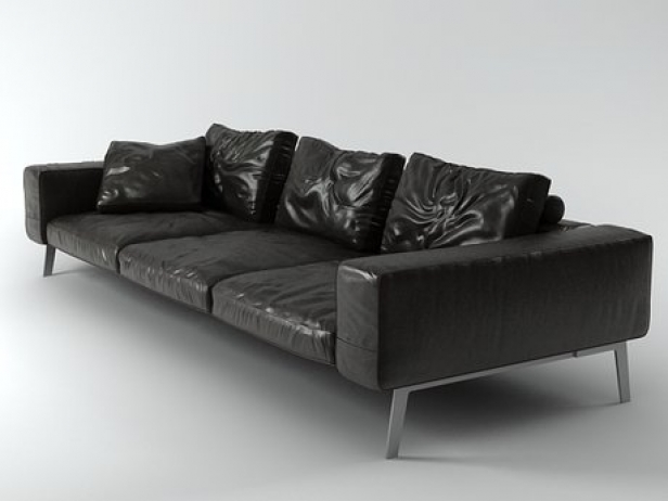lifesteel sofa 275 3d model flexform. Black Bedroom Furniture Sets. Home Design Ideas