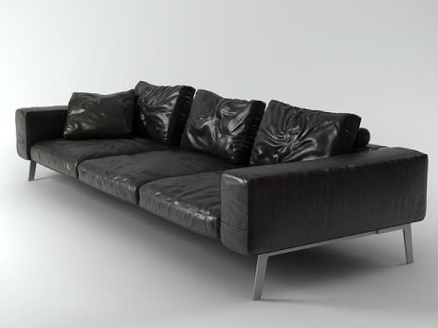 lifesteel sofa 275 3d model flexform. Black Bedroom Furniture Sets. Home Design Ideas