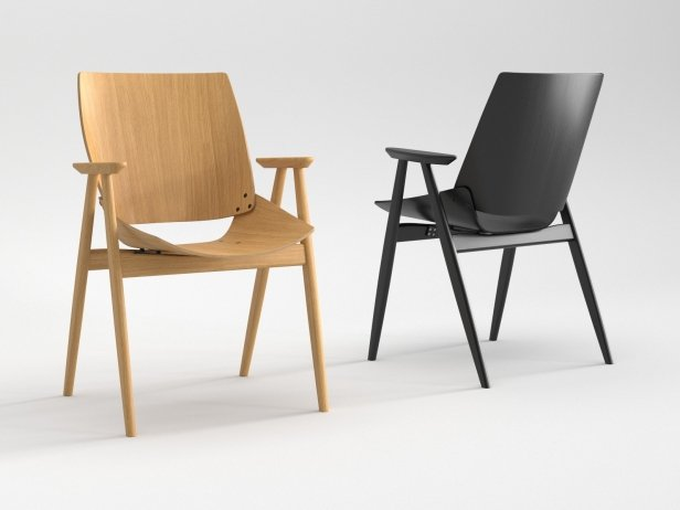 Shell Wood Armchair 1