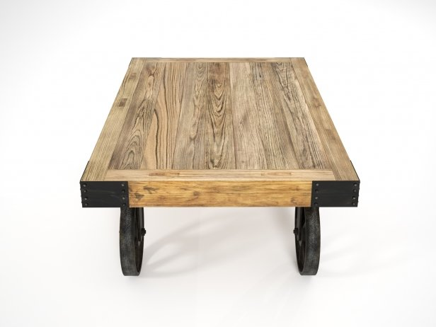 Industrial Cart Coffee Table 4