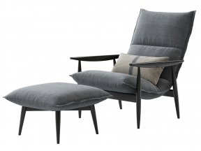 Tao Lounge Chair and Ottoman