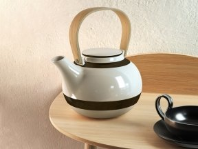 Striped Teapot Set