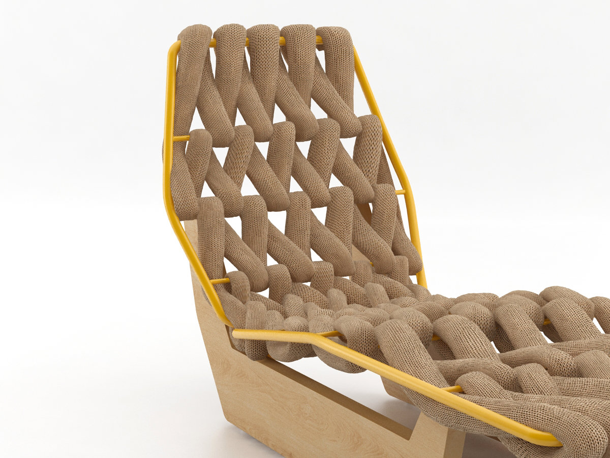 Biknit chaise longue 3d model moroso for Antibodi chaise longue by patricia urquiola