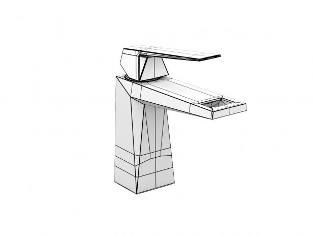 Cube Wall-hung Basin 100 Set 17