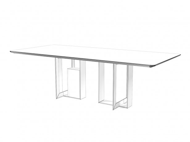 Moore 180 and 240 Rectangle Dining Tables 3