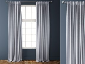 Cotton Luster Velvet Curtains 3