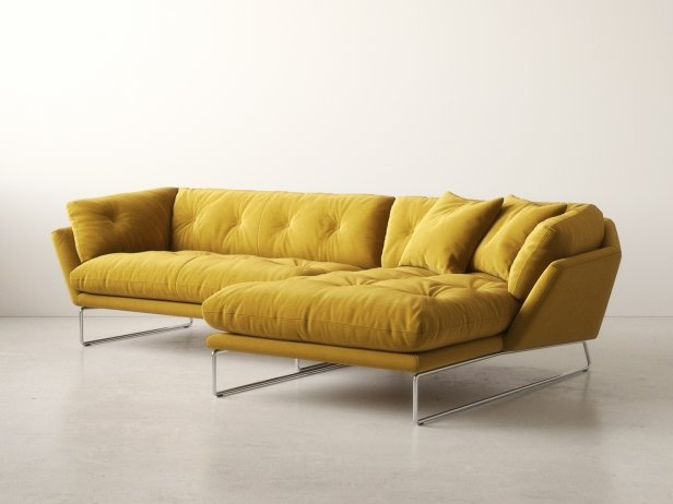New york corner sofa 3d modell saba italia for Sofa skandinavisches design