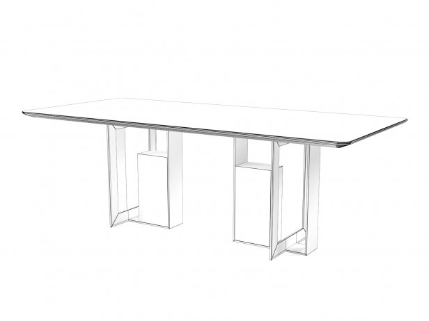Moore 200 and 220 Rectangle Dining Tables 4