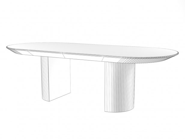 Knife Edge Dining Table 6