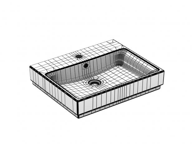 Cube Wall-hung Basin 60 Set 14
