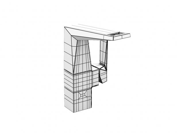 Cube Wall-hung Basin 100 Set 18