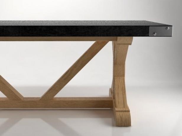 Tremendous Salvaged Wood Concrete X Base Inzonedesignstudio Interior Chair Design Inzonedesignstudiocom