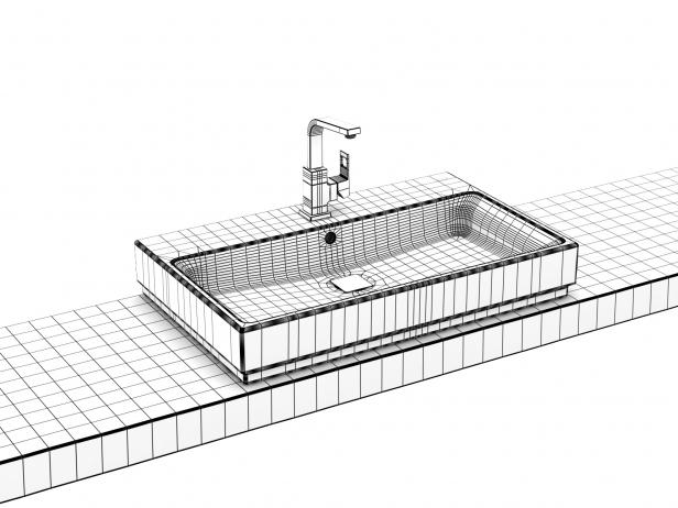 Cube Countertop Basin 80 Set 11