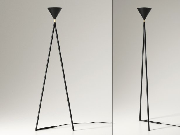 One Globe-One Cone Floor Lamp 3