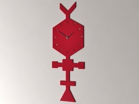 Codice Clock Coral Red