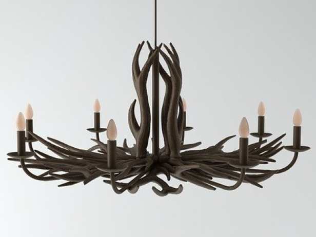 Deer horn chandelier 3d model deer horn chandelier 1 aloadofball Image collections