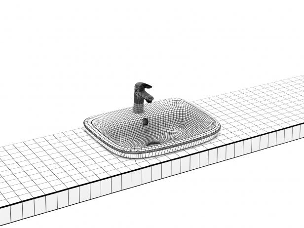 Eurostyle Semi-recessed Basin 60 Set 8