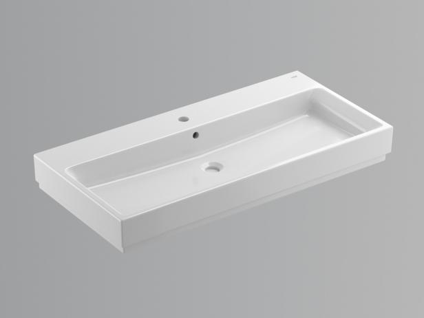Cube Wall-hung Basin 100 Set 2