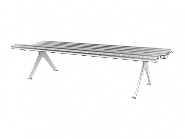 Poca Outdoor Bench without Backrest 5