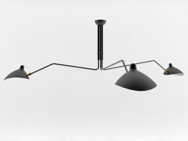 Three Arm Lamp 3d Model Serge Mouille Usa