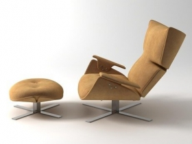 Paulista Armchair and Ottoman