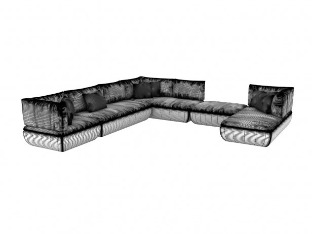 Mimic Modular Sofa Comp H 3