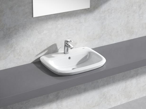 Eurostyle Semi-recessed Basin 60 Set 1