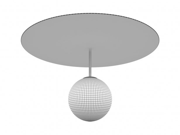 Plate and Sphere Ceiling Lamp 3