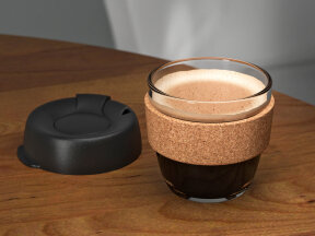 Coffee Cups with Cork Band