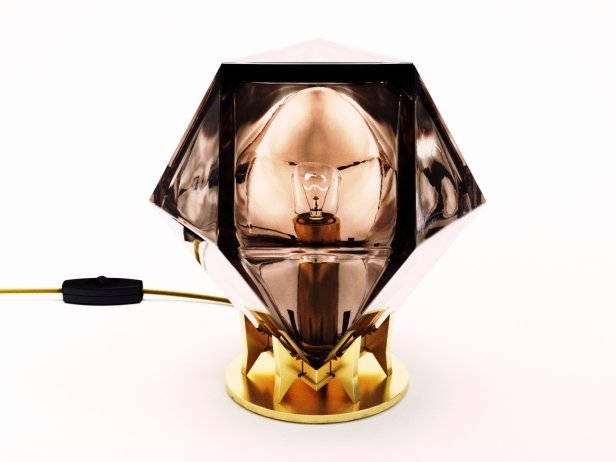 Welles Double Blown Glass Desk Lamp 2