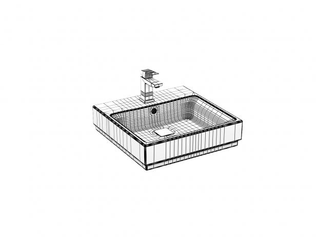 Cube Wall-hung Basin 50 Set 12