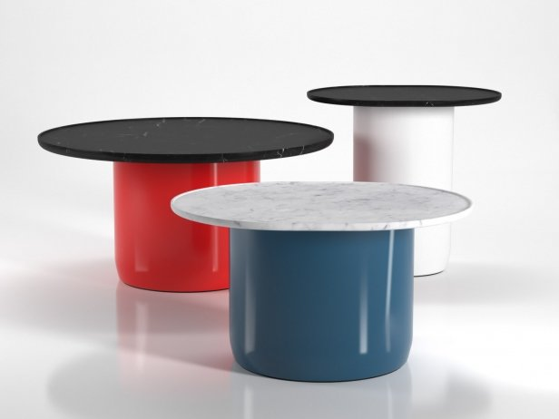 Button Tables 3d Model B Amp B Italia Italy