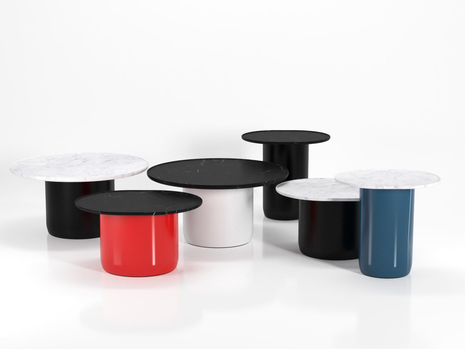 Button tables 3d model b b italia for Table induction 71 x 52