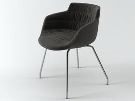 Flow armchair 4 legs