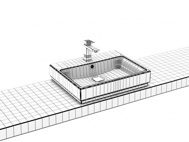 Cube Countertop Basin 60 Set 15