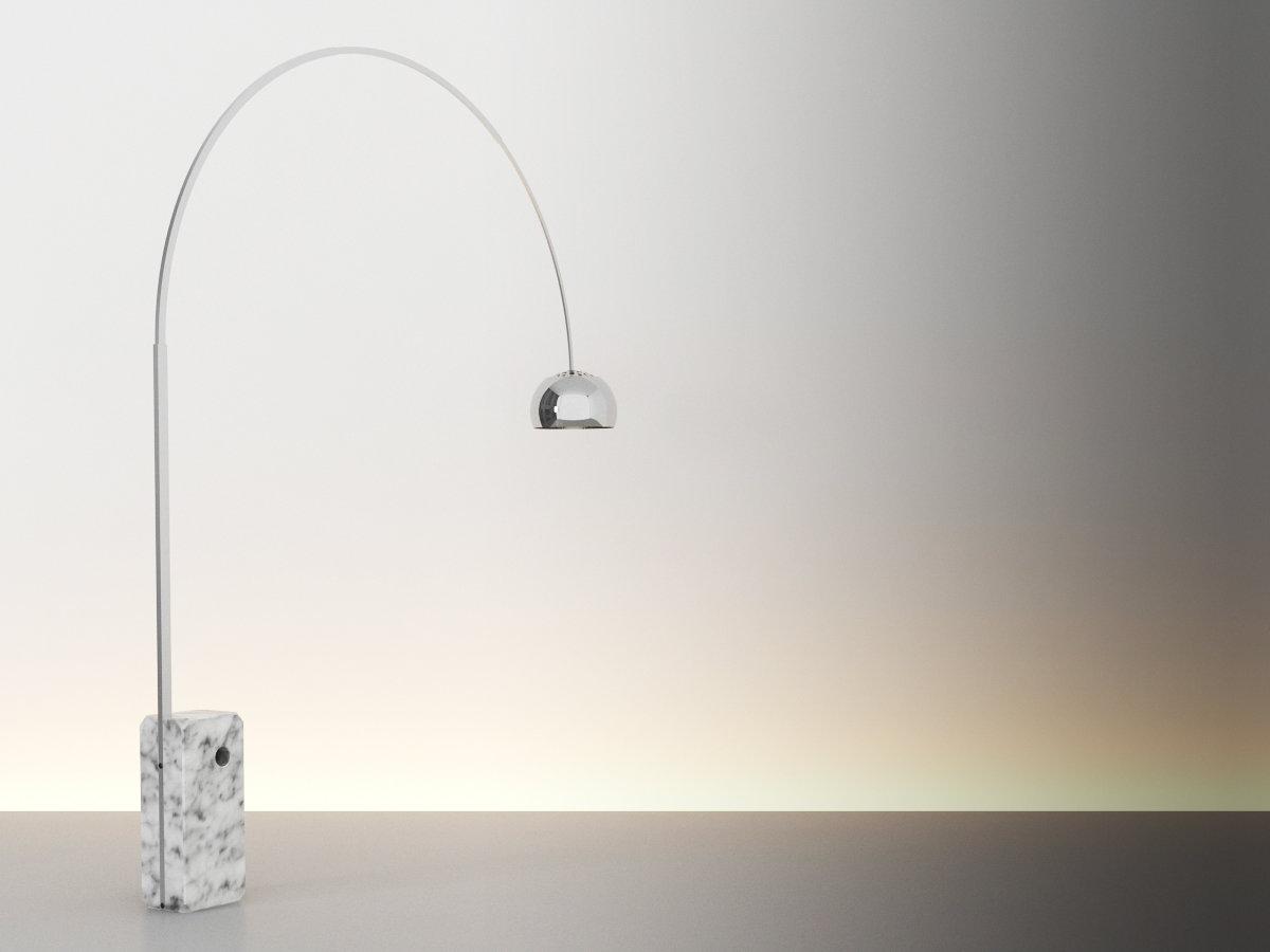 Arco Floor Lamp 3d model  Flos